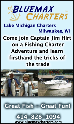 Blue Max Charter Fishing - Milwaukee WI - www.bluemaxcharters.com