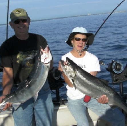 Salmon fishing fishing articles and reports captain for Lake michigan fishing report